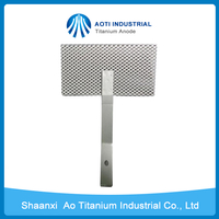 Platinized mesh Titanium anode for alkaline water electrolysis